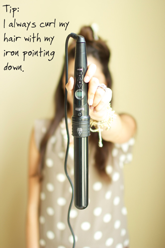 curling iron tips for long hair