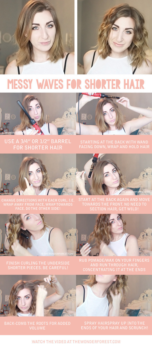 curling short hair tips
