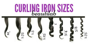 curling iron sizes